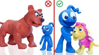 CLAY MIXER MAKE A PUPPY DOG WITH PLAY DOH 💖 Cartoons Play Doh Stop Motion