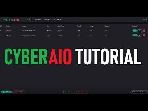Cybersole/CyberAIO Bot Supreme Demo Setup with Proxies (Auto checkout  tutorial)