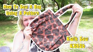 Sewing A Bag Using Kwik Sew K3526 Sewing Pattern