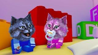 НАС БЬЮТ ОГРОМНЫЕ ДЕТИ В РОБЛОКСЕ! симулятор ребёнка roblox baby simulator