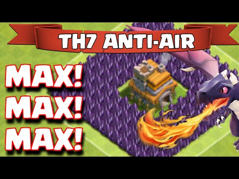 Clash Of Clans FULLY MAXED TOWNHALL 7 AIR SWEEPER BASE LAYOUT Anti-Air | Maxed Out TH7 Base