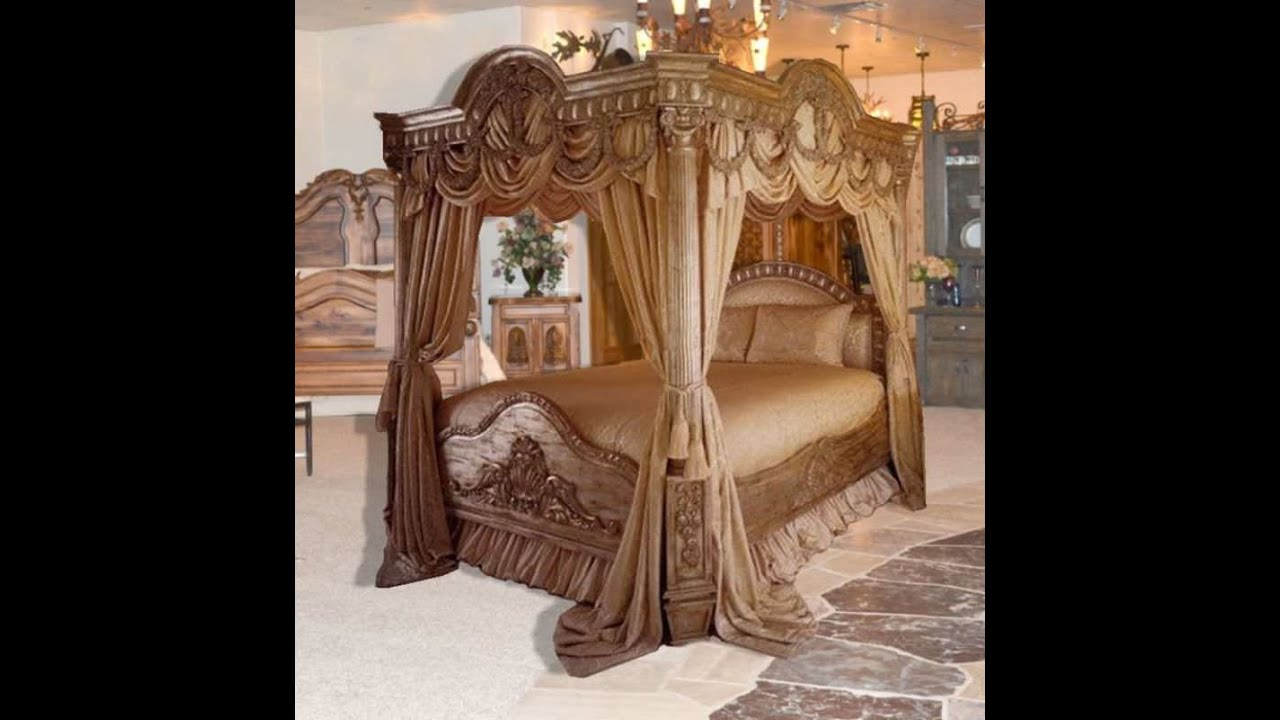 & Bedroom Sets | Queen Canopy Bedroom Sets - YouTube
