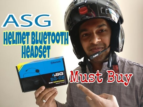 Best Helmet Bluetooth Headset Device - Unboxing and Installation   Listen Music & Answer Calls  