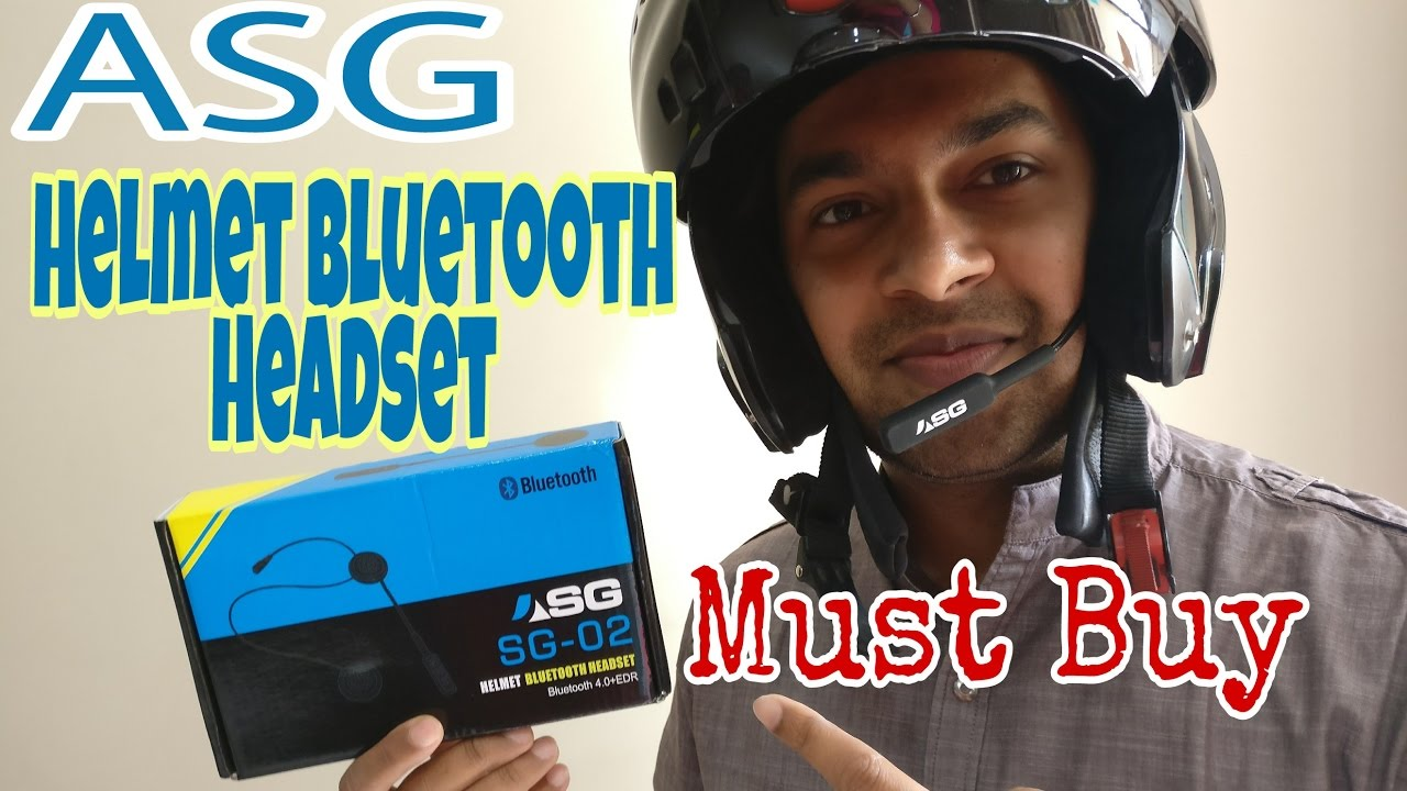 Best Helmet Bluetooth Headset Device Unboxing And Installation Listen Music Answer Calls Youtube