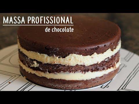 BOLO DE CHOCOLATE PROFISSIONAL PARA ANIVERSÁRIO   MASSA ESPECIAL  
