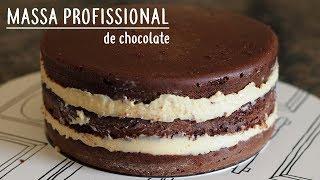 BOLO DE CHOCOLATE PROFISSIONAL PARA ANIVERSÁRIO | MASSA ESPECIAL | thumbnail