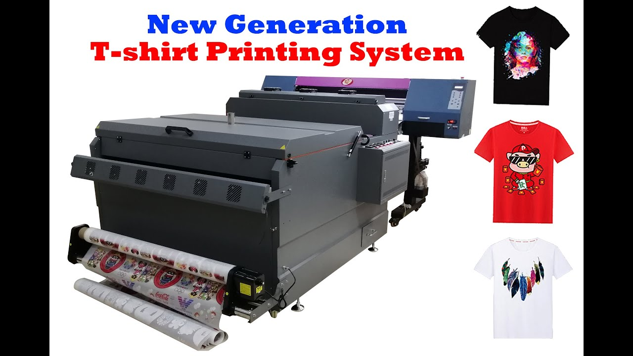New Generation Heat Transfer Digital Printing Machine For T Shirt With Cotton Polyester Blend Youtube