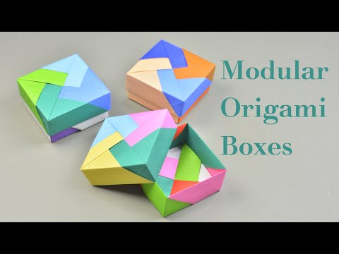 3 Easy Modular Origami Box Tutorial - How To Make Modular Origami Box For Beginners | Creative DIY