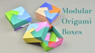 3 Easy Modular Origami Boxes Tutorial | Creative DIY