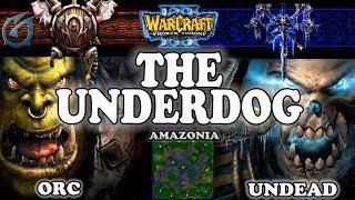 Grubby | Warcraft 3 TFT | 1.29 | ORC v UD on Amazonia - The Underdog
