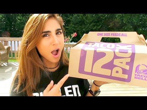 TACO BELL'S TACO 12 PACK CHALLENGE!!