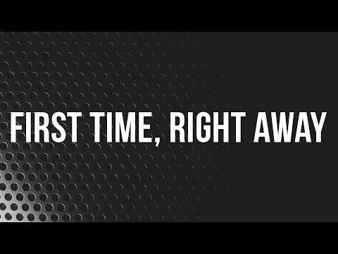 First Time, Right Away // Craig Brown