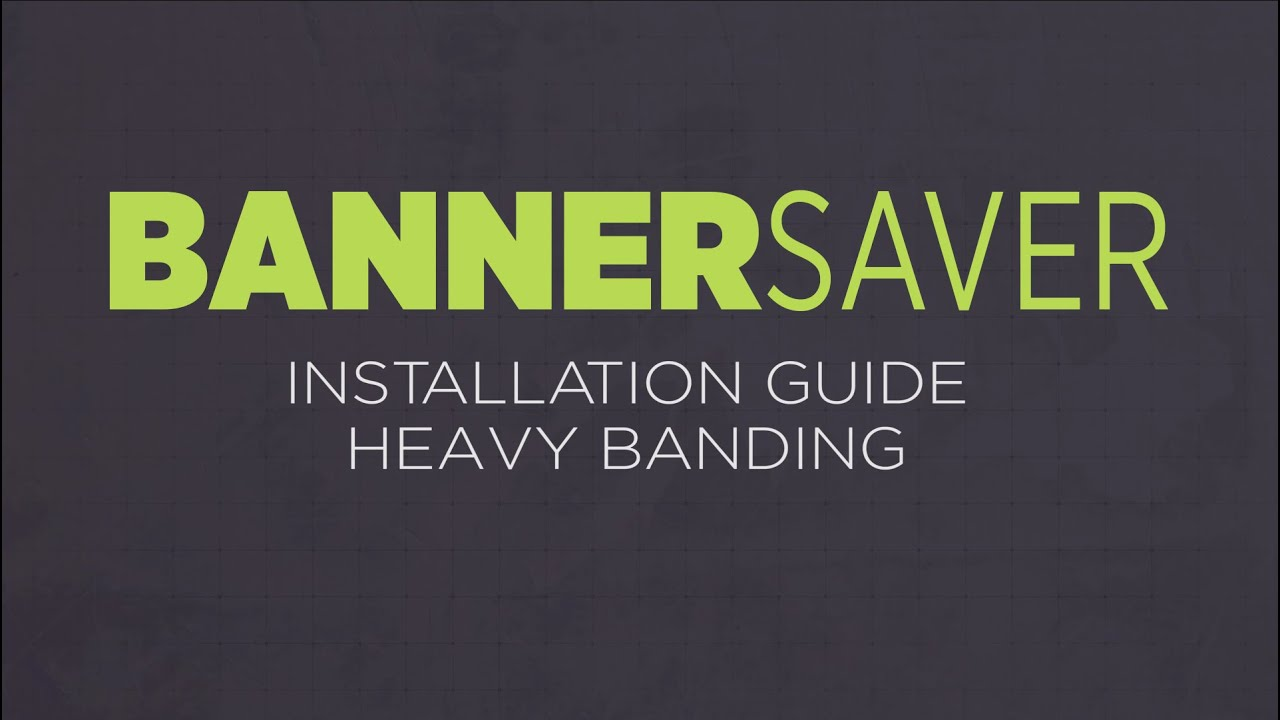 Banding guide array bannersaver installation guide heavy banding youtube rh youtube com fandeluxe Gallery