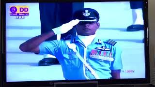 85th Indian Air-force Anniversary Day Parade led by  Captain S M Yunus at Ghaziabad.