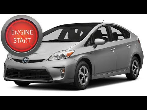Toyota Prius Opening And Starting A With Dead Key Fob Battery