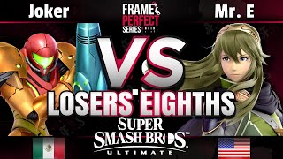 FPS2 Online Losers Top 8 - CE | Joker (Samus) vs Mr. E (Lucina) - Smash Ultimate