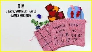 Diy I 3 Easy Travel Games For Kids