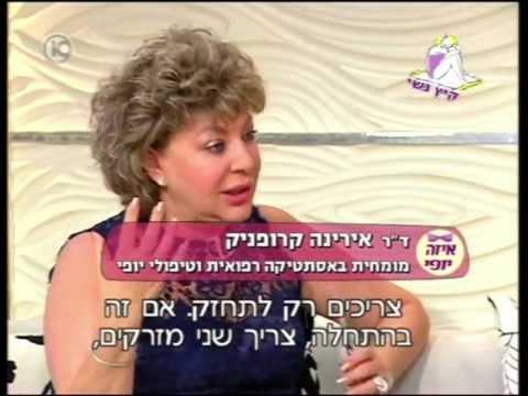 דר' קרופניק בתכנית הטלויזיה 'איזה יופי' עם נעמה - ערוץ 10