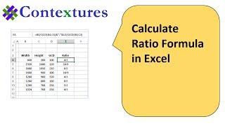 calculate ratio with excel formulas