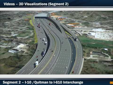 North Houston Highway Improvement Project 3D Visualization of the Proposed Recommended Alternative