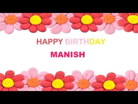 Manish   Birthday Postcards & Postales - Happy Birthday