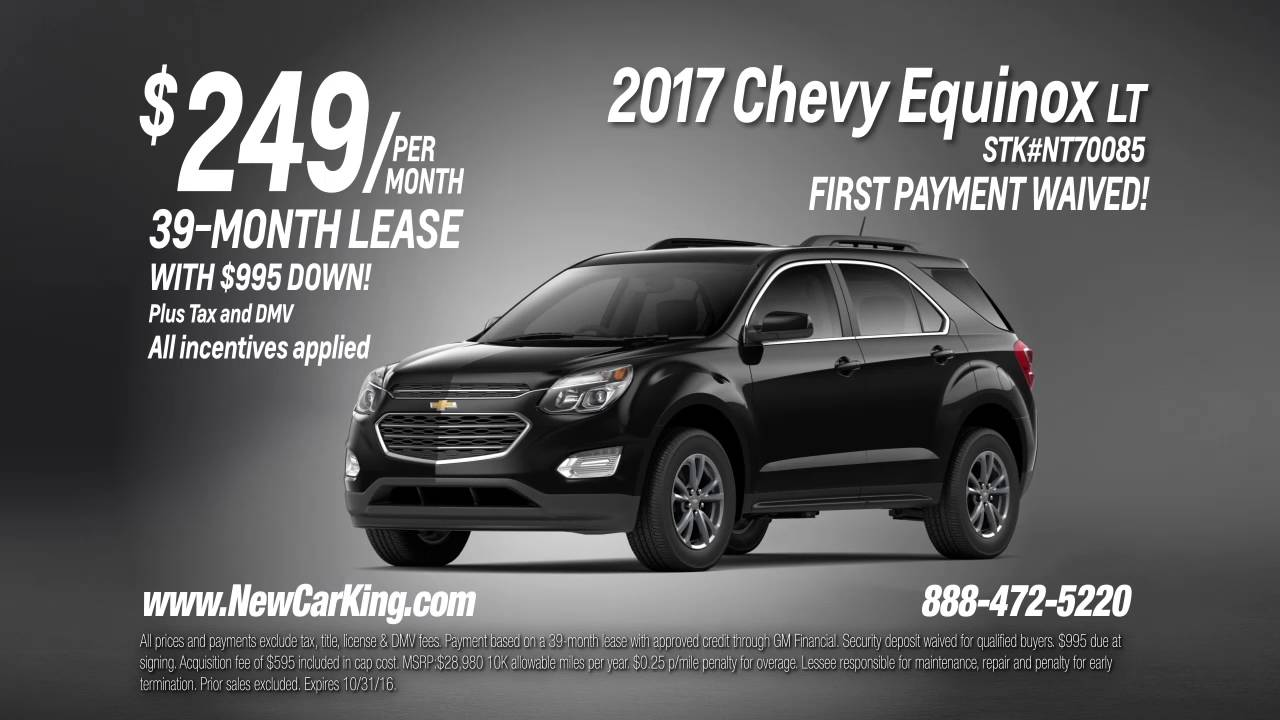 How Much Is Equinox Per Month >> Lease A 2017 Chevy Equinox Lt For Just 249 Per Month Youtube