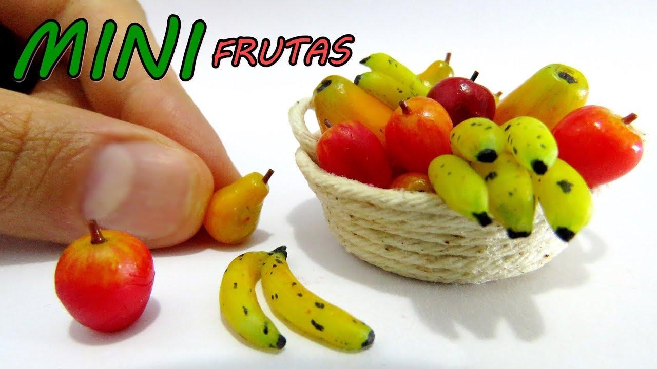 Como hacer mini frutas para mu ecas barbie pl tanos - Casas miniaturas para construir ...