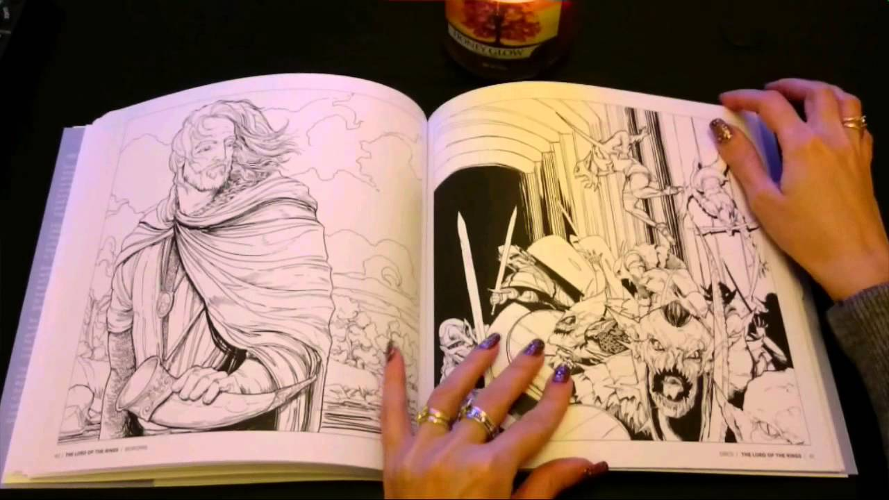 Tolkien\'s world, a colouring book - YouTube