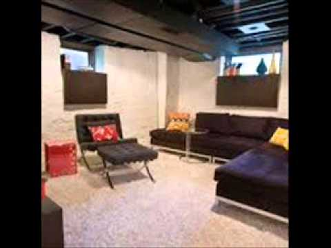 Charming Unfinished Basement Ideas