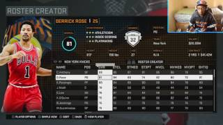 Predicting the NBA 2K17 Knicks Roster Ratings