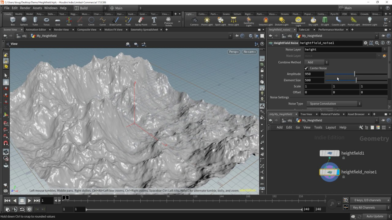 Houdini Heightfields to Unreal Engine 4 Landscapes