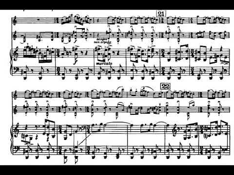 Igor Stravinsky - L'Histoire du Soldat (The Soldier's Tale) for Trio (1918) [Score-Video]