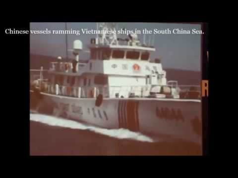 China marine police attack Vietnamese patrol vessels and repeatedly rammed them