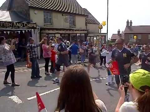 Olympic torch arrives in Clee Hill, Shropshire 2012