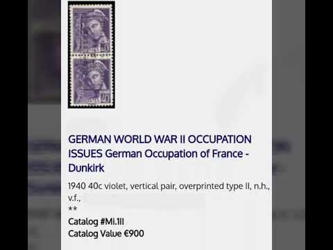 Value &cat Nr Germany Ww2 Occupation Stamps Briefmarken