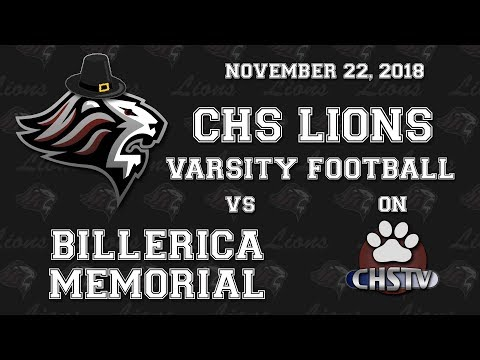 CHS Lions Football vs Billerica Nov 22, 2018