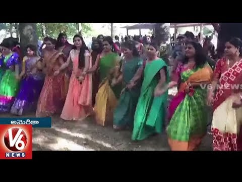 Aligina Bathukamma Festival Celebrations Held In Columbus City | V6 USA NRI News
