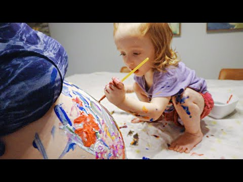 Letting My 2 Year Old Paint My Pregnant Belly | Teen Mom Vlog