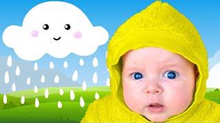 Chuva, chuva, vá embora | Canções Infantis | Rain Rain Go Away Children Song with Five Kids