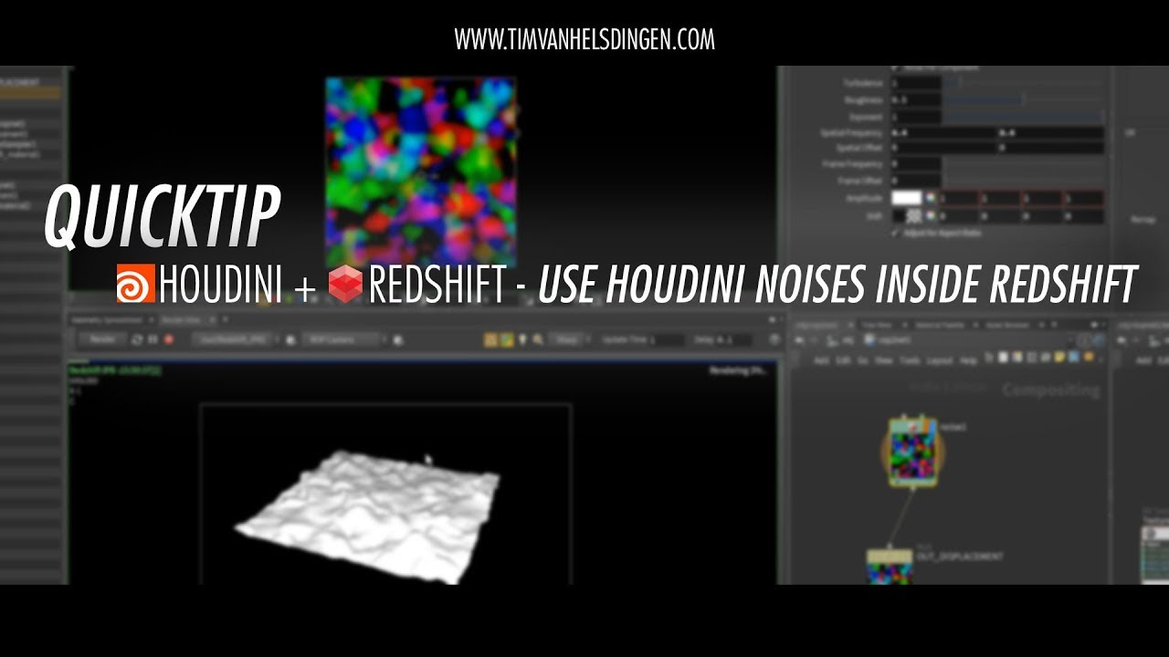 Quicktip: Use Houdini Noises Inside Redshift