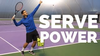 How To Generate Effortless Power On The Tennis Serve