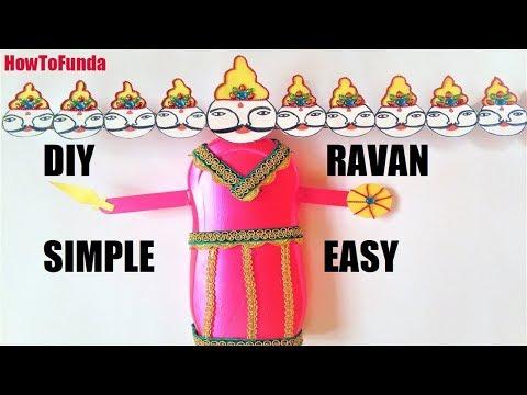 ravan making at home with paper | dussehra craft | mini ravana | putla making | paper ravan | diy
