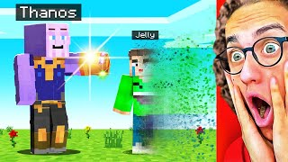 PLAYING As THANOS in Minecraft! (Mods)