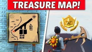 Paradise Palms Treasure Map Signpost & Treasure Map X Location Guide - Fortnite (Season 8 Challenge)
