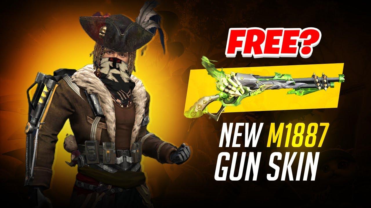 FREE? NEW M1887 AND PLASMA GUN SKIN DIAMOND SPIN | GARENA FREE FIRE
