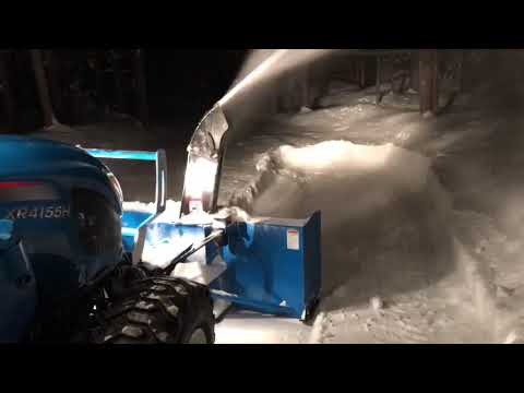 LS tractor snowblower