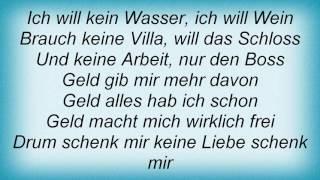 Rosenstolz - Geld Lyrics