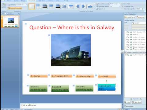 how to make interactive button in powerpoint