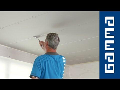 Gipsplaten Plafond Plamuren Verven How To Met Gamma Youtube