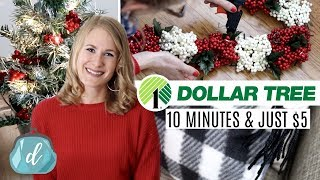 Dollar Tree Christmas Diys...for Lazy People!  Just $5 And Under 10 Minutes